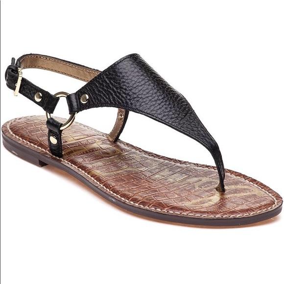 2ed54fabae5e9a Sam Edelman Black Greta Sandal Flats. M 5c5e1b114ab633300b304627